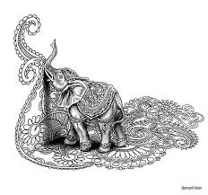 Freebie From Bennett Klein Incredible Art Elephant Coloring Page