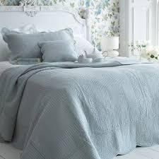 Sashi Bed Linen Milan 100% Cotton Quilted Bedspread, Duck Egg Blue ... & Sashi Bed Linen Milan 100% Cotton Quilted Bedspread, Duck Egg Blue, King/ Adamdwight.com
