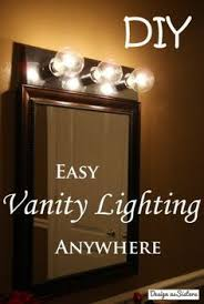 Image Lighted Makeup Easily Rewire Vanity Lights So That They Can Be In Any Room With Normal Plug And Switch We Have Done This Twice Now And It Has Been Really Helpful Pinterest Youre So Vain For The Home Home Lighting Lighting Vanity