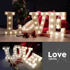Night Light For Children S Bedroom Night Light 26 Letter Remote Control Lamp White Led Wedding