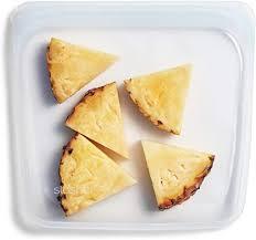 Stasher 100% <b>Silicone Food Grade</b> Reusable <b>Storage Bag</b>, Clear
