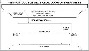 door opening sizes garage doors measurements standard double sectional garage door sizes double garage doors sizes
