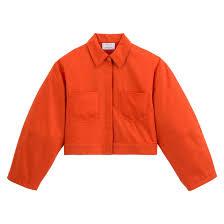 <b>Блузон короткий</b> с широкими рукавами оранжевый Quynh Bui X ...