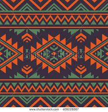 Navajo Pattern Mesmerizing Retro Color Tribal Navajo Vector Seamless Stock Vector Royalty Free