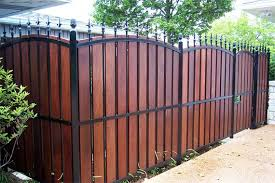 wrought iron privacy fence. Brilliant Wrought Privacy Fence Landscaping Ideas  Home Fencing Options  Buyers Guide HouseLogic Intended Wrought Iron L