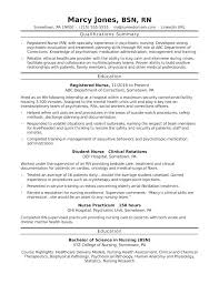 Resume Templates For Nurses Nursing Resume Example Nurse Resume ...