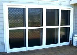 sliding glass door width standard