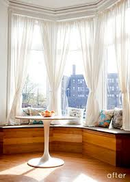 Bay Window Curtains Photo Ideas And Drapes Blinds Jcpenneybay