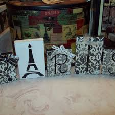 Paris Decor Paris Damask Blocks Shabby French Decor,shabby Chic,