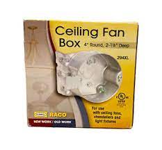 raco ceiling fan box 294xl 4 round 2 1