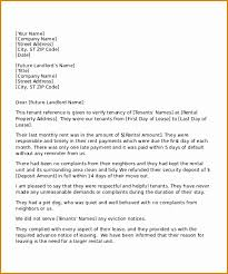 Letter Of Recommendation Tenant Tenant Reference Letter Template Military Bralicious Co
