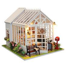 modern dolls house furniture. diy happy kitchen doll house miniature cake shop wooden dollhouse furniture kit led light for childen christmas birthday gift modern dolls