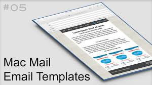 Mac Mail Email Templates 05 Youtube