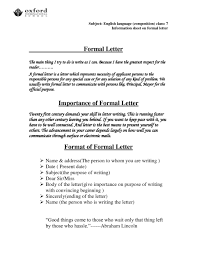 Mla Formal Letter Format Templates Design
