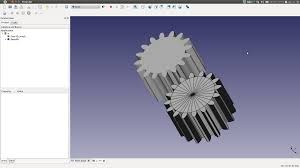 Freecad Gear Design Linux Aided Design Gear Design With Linux