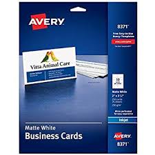 avery business cards 5371 amazon com avery printable business cards laser printers 250