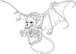 Coloring Pages Dragons Scary Dragon Coloring Pages Cool Pictures To