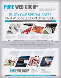 how to make a good flyer for your business flyers pure web group