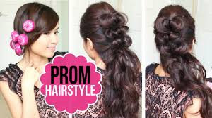 Elegant Prom Hair Style easy prom hairstyle half updo hair tutorial youtube 7669 by wearticles.com