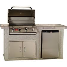 bull outdoor s power q bbq island with 4 burner angus gas grill single horizontal access