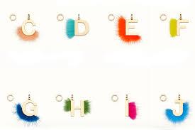 fendi charm letter necklace the art