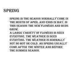 the spring season essay  the spring season essay