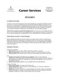 Student Resume Objectives Cover Letter Sample List Of In For