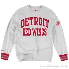 Styles Nhl Mitchell 79 Team Sweatshirt All Crew Yi-536676 Detroit - amp; Ness Wings Sweatshirts Gray Red Celebration £39