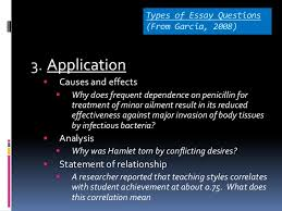 essay test 17 types of essay questions