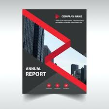 red creative corporate annual report template free vector project status blue brochure flyer cover