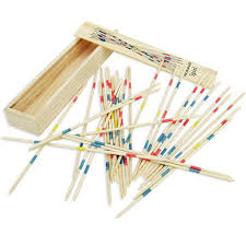 Game With Wooden Sticks 100Pc Traditional Wooden Mikado Spiel Pick Up Sticks With Box Game 14