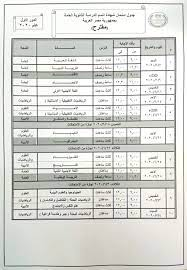 التعليم تعلن جدول امتحانات الثانوية العامة التجريبي (صورة) • مصر في يوم