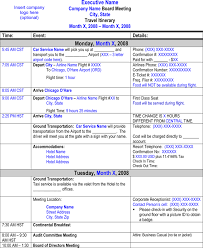 Word Travel Itinerary Template Flight Itinerary Templates Samples For Word Excel