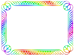 progressive rainbow peace frame