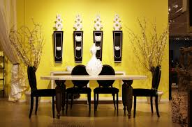 attractive yellow dining room paint colors