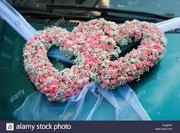 Flower Design For Marriage Wedding Car Flowers Decoration Stock Photos Wedding Car