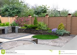 Recreational Space Design Landscaping Recreational Space Plant Groupings 3d Render
