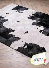 chic cow print rug 2