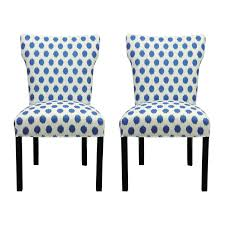 upolstered dining chairs. Amazon.com - Sole Designs Bella Collection Modern Wingback Upholstered Dining Chair, Spring Seating Slipper/Side JoJo Series, Aqua Finish ( Set Of 2) Upolstered Chairs