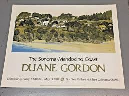 Vintage 1981 Sonoma Mendocino Coast Poster / Print The Nut Tree @  Vacaville, CA 24 x 30 inches