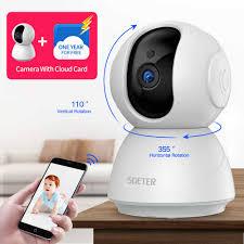 SDETER Webcam 1080P Video Camera Quan Sát Không Dây Camera Giám Sát An Ninh  Thiết Bị Nhìn Đêm Trẻ Em V380 Camera|Camera giám sát