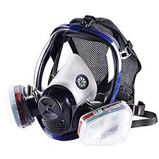 Qiling Organic Vapor Full Face Respirator Respiratory Protection Gas Masks Paint Pesticide Chemical Formaldehyde Anti Virus Full Activated Carbon