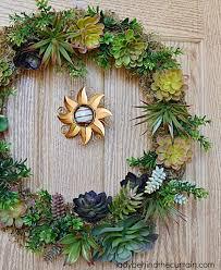 front door wreaths for summerDIY Artificial Succulent Front Door Wreath