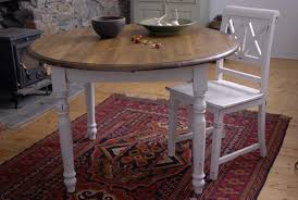 shabby chic dining sets. Round Shabby Chic Dining Table With White Paint Color Sets