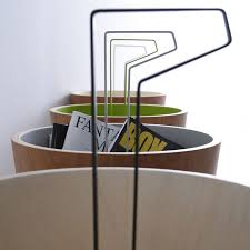 Contemporary Magazine Holder Awesome Contemporary Magazine Rack Residential Lacquered Wood BUCKET