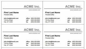 Microsoft Word Business Card Template Free Sdrujenie Com