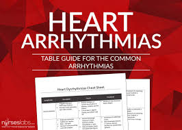 Heart Arrhythmias Cheat Sheet Nurseslabs