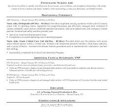 Nurse Aide Resume Examples Resume Sample Resume Sample With No