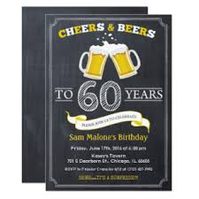 60 birthday invitations 60th birthday invitations zazzle