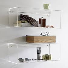 Lucite Floating Shelves Impressive Clear Acrylic Wall Mounted ShelfSquare Lucite Floating Shelf